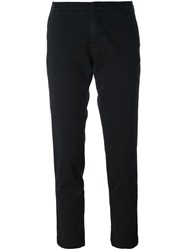 P.A.R.O.S.H. Slim Fit Cropped Trousers Black