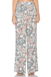 Bcbgeneration Floral Wide Leg Pant Gray