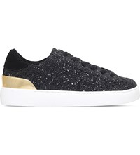 Nine West Palyla Coarse Glitter Embellished Trainers Black