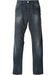 Iceberg Stone Washed Straight Leg Jeans Grey