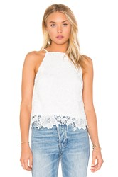 Bishop Young Into The Sunset Crochet Tank White