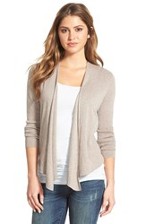 Nic Zoe Petite Women's Four Way Convertible Cardigan Mushroom