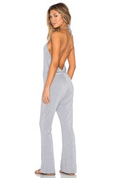 Blq Basiq Halter Low Back Jumpsuit Gray