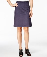 Tommy Hilfiger Faux Suede A Line Skirt Only At Macy's Masters Navy