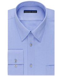 Geoffrey Beene Men's Fitted Non Iron Textured Sateen Dress Shirt Light Blue