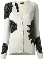Etro Floral Pattern Cardigan Nude And Neutrals