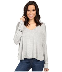 Project Social T Marley Long Sleeve Heather Grey Women's Clothing Gray