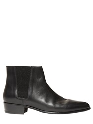 The Kooples Leather Chelsea Boots Black