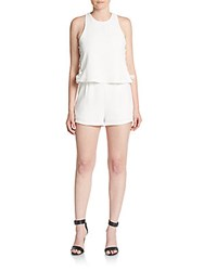 Romeo And Juliet Couture Side Lace Short Jumpsuit White