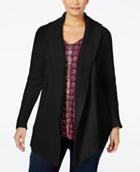 Styleandco. Style Co. Plus Size Shawl Collar Cardigan Only At Macy's Deep Black