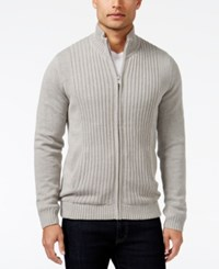 Alfani Men's Textured Panel Jacket Only At Macy's Zinc Heather