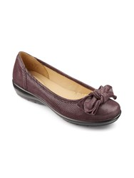 Hotter Jewel Bow Front Ballerina Shoes Violet