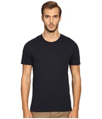 Vince Pima Modal Color Block Short Sleeve Crew Coastal Blue