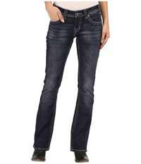Rock And Roll Cowgirl Rival Bootcut In Dark Vintage W6 6442 Dark Vintage Women's Jeans Navy