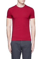 Armani Collezioni Slim Fit Cotton T Shirt Red