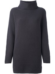 N.Peal Roll Neck Batwing Pullover Grey