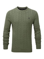 Henri Lloyd Kramer Regular Crew Neck Knit Olive