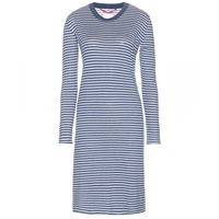Dear Cashmere Striped Cotton And Cashmere Blend Midi Dress Combo 1541