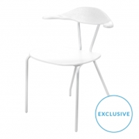 Neat Dining Chair In White