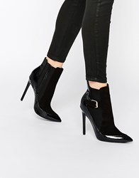 Paper Dolls Ryder Black Patent Heeled Chelsea Boots Black Patent