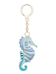 Kate Spade Leather Seahorse Keychain