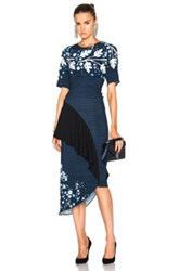 Peter Pilotto Printed Cady Pencil Dress In Blue Floral Blue Floral