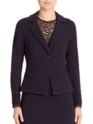 Nanette Lepore Leo Tweed Blazer Black Plum