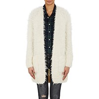 R 13 R13 Women's Shaggy Open Front Cardigan White Cream White Cream