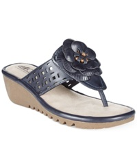 Cliffs By White Mountain Summerland Flower Thong Flat Sandals Women's Shoes