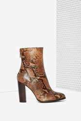 Nasty Gal Intentionally Blank Vetus Suede Boot Python