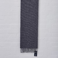 Johnstons Of Elgin Blue And Grey Check Scarf