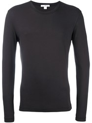 James Perse Long Sleeve T Shirt Pink And Purple