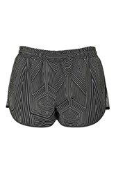 Reflective Mesh Runner Shorts By Ivy Park Black