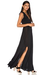 Haute Hippie Modal Drape Front Dress Black
