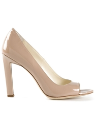Brian Atwood 'Candice' Open Toe Pumps Nude And Neutrals