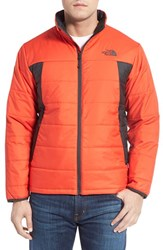 The North Face Men's 'Bombay' Quilted Jacket Fiery Red Asphalt Grey