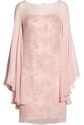 Mikael Aghal Sweetheart Sequin Embellished Silk Dress Pink