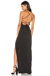Donna Mizani Cross Back Square Neck Maxi Dress Black