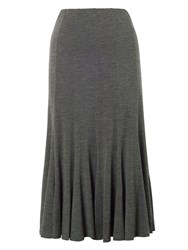 Chesca Twelve Panel Marl Jersey Skirt Charcoal