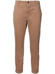 Closed Cropped Chino Trousers Brown