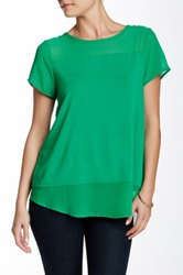 Vince Camuto Chiffon Upper Blouse Green