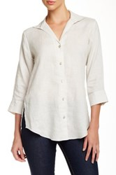 Paperwhite Collections Wing Collar Linen Shirt