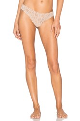 Only Hearts Club Stretch Lace Thong Beige