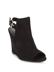 Schutz Kila Suede Wedge Mules Black