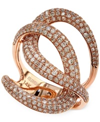 Effy Collection Pave Rose By Effy Diamond Pave Knot Ring In 14K Rose Gold 1 3 4 Ct. T.W.