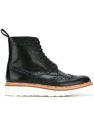 Grenson 'Fred' Brogue Boots Black