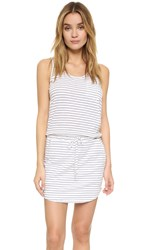 Sundry Stripe Tank Dress White