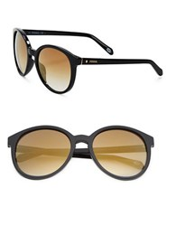 Fossil 56Mm Mirrored Sunglasses Black