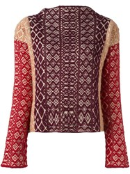 Forte Forte Jacquard Knit Jumper Nude And Neutrals