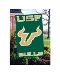 Party Animal South Florida Bulls Applique House Flag Team Color